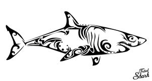 Tribal shark Stock Photo
