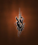 Tribal sign. Illustration of a black tribal sign on a gradient background royalty free illustration