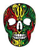 Tribal skull  art Stock Photo