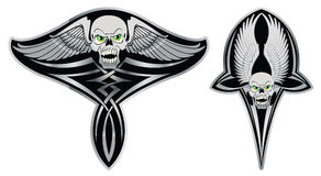 Tribal skull set for tattoo Royalty Free Stock Images