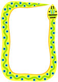 Tribal Snake Frame Border Stock Images