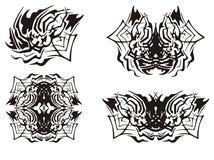 Tribal spider symbols Royalty Free Stock Photography