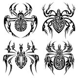 Tribal spiders. Tattoo design Stock Photo