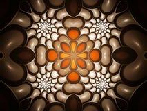 Tribal Spiral Kaleidoscope. Unusual fractal kaleidoscope of spheres vector illustration