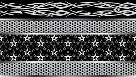 Tribal star seamless pattern Stock Image