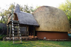 Tribal straw house in South Africa. Royalty Free Stock Images