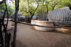 Tribal straw houses in South Africa. Royalty Free Stock Image