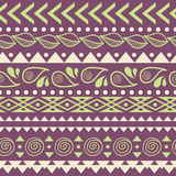 Tribal striped seamless pattern. Royalty Free Stock Images