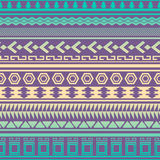 Tribal striped seamless pattern. Royalty Free Stock Photos