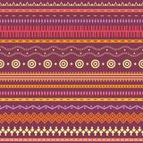 Tribal striped seamless pattern. Stock Photos