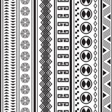 Tribal striped seamless pattern. Stock Images