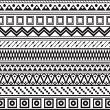 Tribal striped seamless pattern. stock illustration