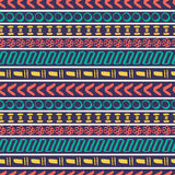 Tribal striped seamless pattern. Royalty Free Stock Photos