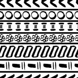 Tribal striped seamless pattern. Stock Image
