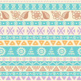 Tribal striped seamless pattern. Royalty Free Stock Image