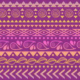 Tribal striped seamless pattern. Royalty Free Stock Photo