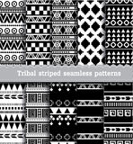 Tribal striped seamless patterns.vector Royalty Free Stock Image