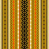 Tribal striped vector seamless pattern. Abstract ornamental geom. Etric background. Ethnic style tribe ornament with stripes, zigzag, lines, shapes, borders Royalty Free Illustration