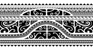 Tribal style arm band tattoo, seamless Stock Image