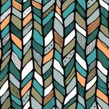 Tribal style braided seamless pattern, ethnic chevron multicolor. Braid lines Stock Photos