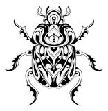 Tribal style bug tattoo Royalty Free Stock Images