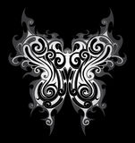 Tribal style butterfly tattoo Royalty Free Stock Photography