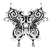 Tribal style butterfly tattoo Royalty Free Stock Image