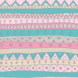 Tribal style seamless vector pattern for textile, scrapbooking, wrapping paper and background. Pastel colors Royalty Free Stock Photo