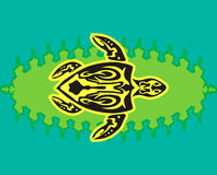 Tribal style turtle Stock Photo