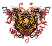 Grunge stylized lion butterfly splashes Stock Photography