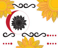 Tribal Sun Flowers Royalty Free Stock Photos