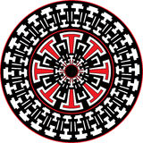 Tribal Sun Mandala Royalty Free Stock Photography