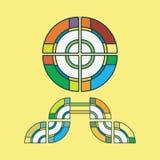 Tribal sun symbol Stock Images
