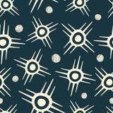 Tribal sun symbols and circles royalty free illustration