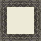 Tribal Swirl Square Frame Royalty Free Stock Photo