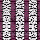 Tribal Symbol Motif Geometric Seamless Pattern Stock Image