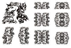 Tribal symbols of a little spotty deer Stock Photos