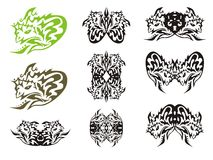 Tribal symbols of small dragon Stock Image