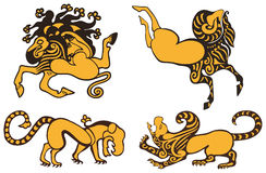 Tribal tattoo Stock Image