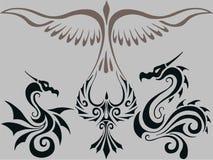 Tribal tattoo. Illustration animal bird Royalty Free Stock Image