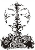 Tribal Tattoo. Vector background illustration Royalty Free Stock Photos