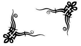 Tribal tattoo. Black Tribal tattoo like corner, usefull for frames Vector Illustration