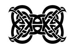 Tribal tattoo. Tribal art tattoo in black and white Stock Photo