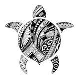 Tribal tattoo for aboriginal turtle shape. Maori style tattoo shaped as turtle Stock Image