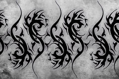 Tribal Tattoo design over grey background Stock Image