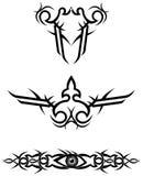 Tribal tattoo designs / vector. Illustration Royalty Free Stock Photo