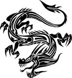 Tribal Tattoo Dragon. Vector Illustration Stock Images