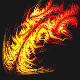 Tribal tattoo of dragon fire or tiger skin. Of Digital Art  series Royalty Free Stock Images