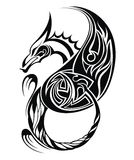 Tribal Tattoo Dragon Vector Illustration Stock Image