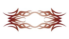 Tribal tattoo element for design Royalty Free Stock Image